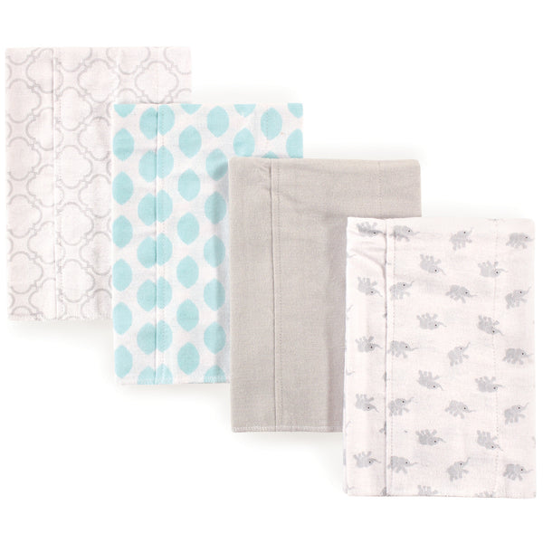 Luvable Friends Cotton Flannel Burp Cloths, Elephant