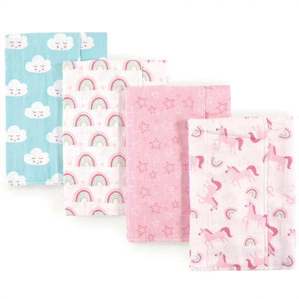 Luvable Friends Cotton Flannel Burp Cloths, Abc