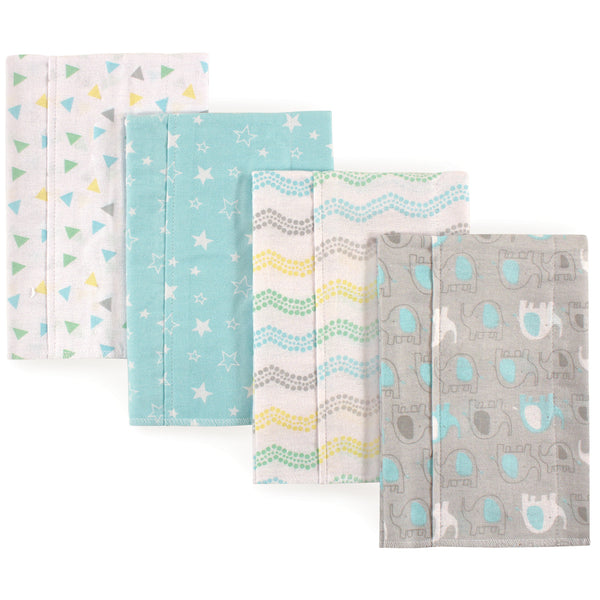 Luvable Friends Cotton Flannel Burp Cloths, Basic Elephant