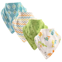 Luvable Friends Cotton Bandana Bibs, Abc