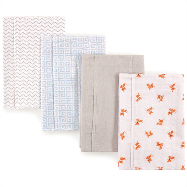 Luvable Friends Cotton Flannel Burp Cloths, Fox
