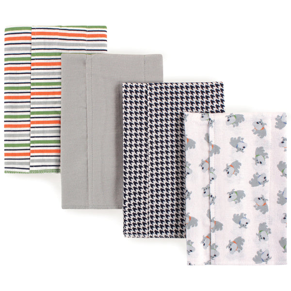 Luvable Friends Cotton Flannel Burp Cloths, Dog