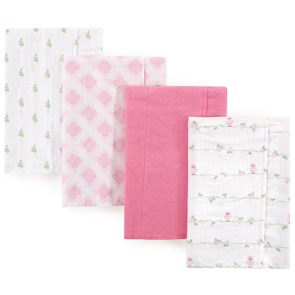 Luvable Friends Cotton Flannel Burp Cloths, Bird