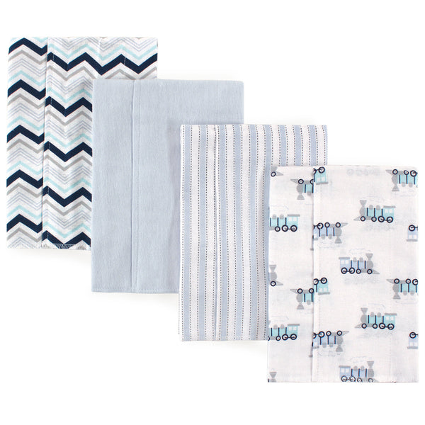 Luvable Friends Cotton Flannel Burp Cloths, Train