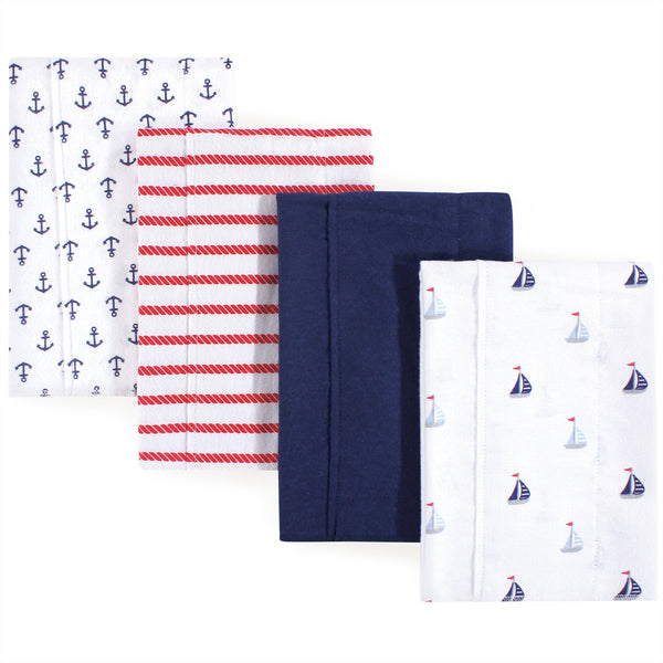 Luvable Friends Cotton Flannel Burp Cloths, Sailboat