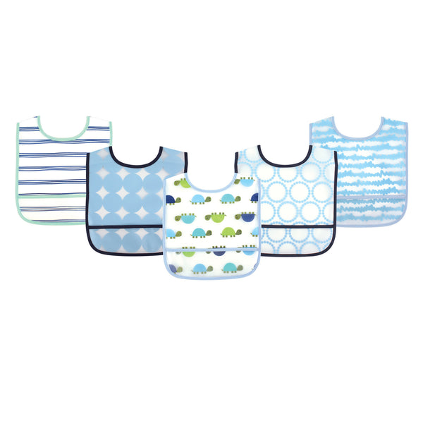 Luvable Friends Waterproof PEVA Bibs, Turtle