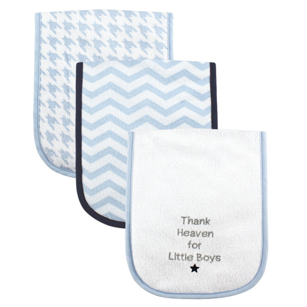 Luvable Friends Cotton Burp Cloths with Fiber Filling, Boy Thank Heaven
