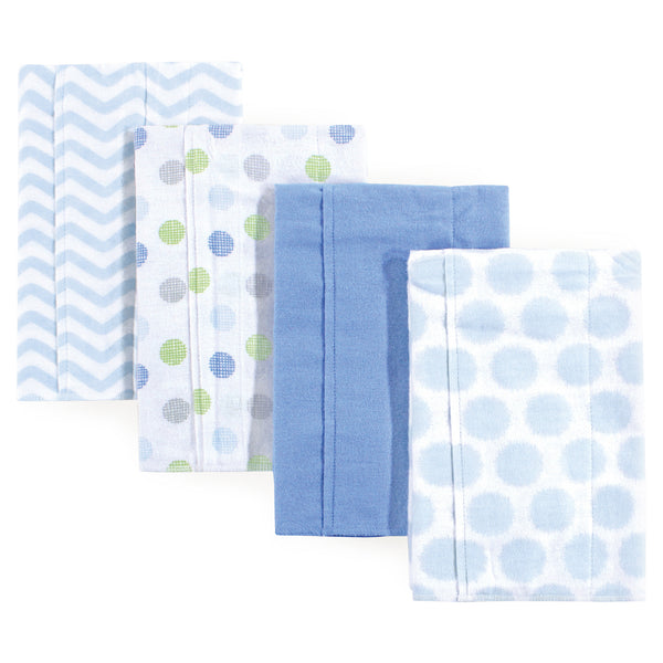 Luvable Friends Cotton Flannel Burp Cloths, Blue