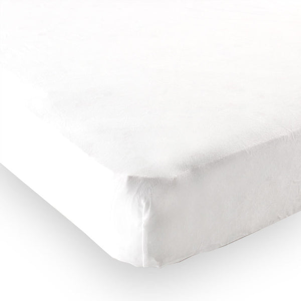 Luvable Friends Fitted Crib Sheet, White Solid