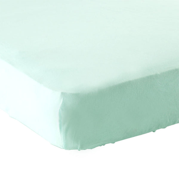 Luvable Friends Fitted Crib Sheet, Mint Solid