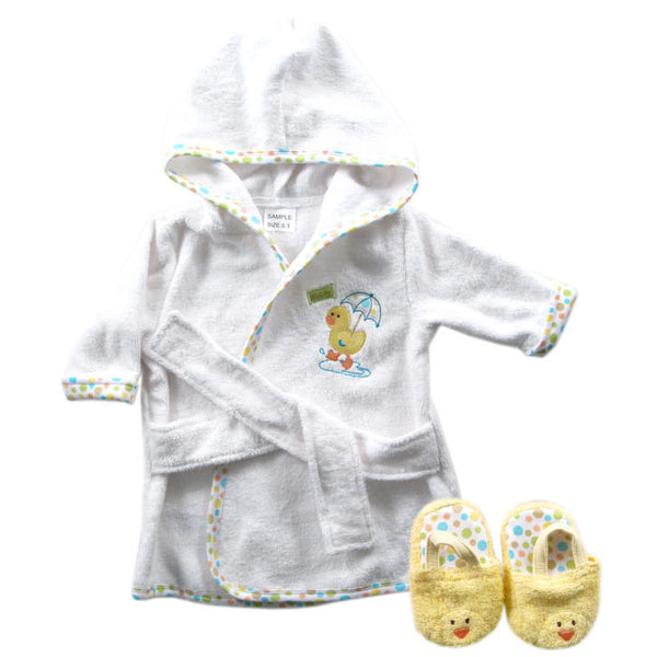 Luvable Friends Cotton Terry Bathrobe, Yellow
