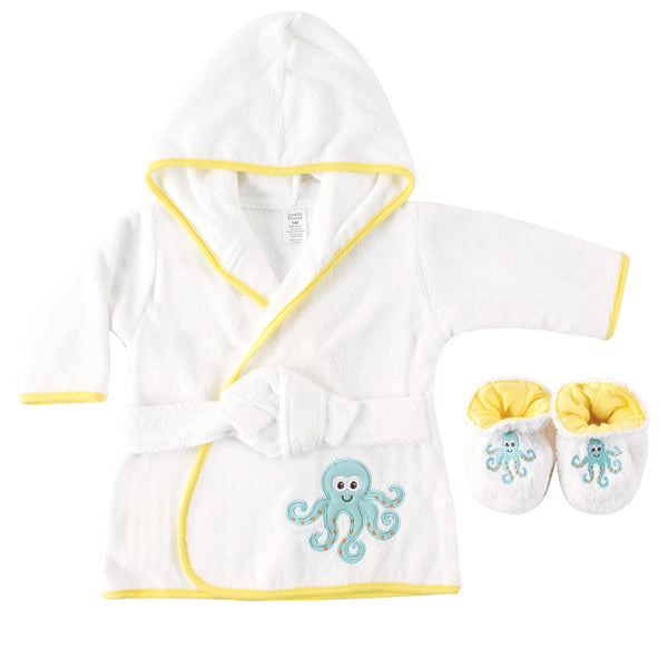 Luvable Friends Cotton Terry Bathrobe, Octopus