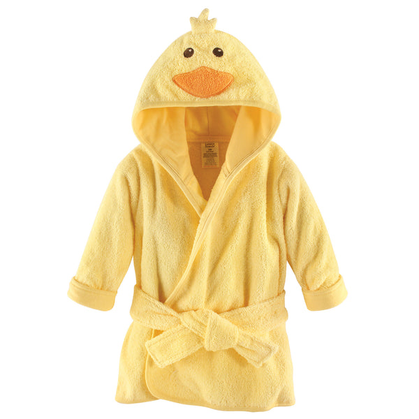 Luvable Friends Cotton Animal Face Bathrobe, Duck