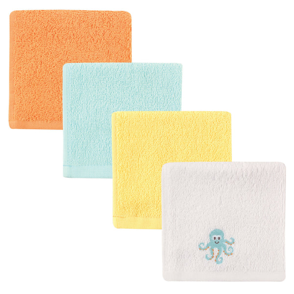 Luvable Friends Super Soft Cotton Washcloths, Octopus