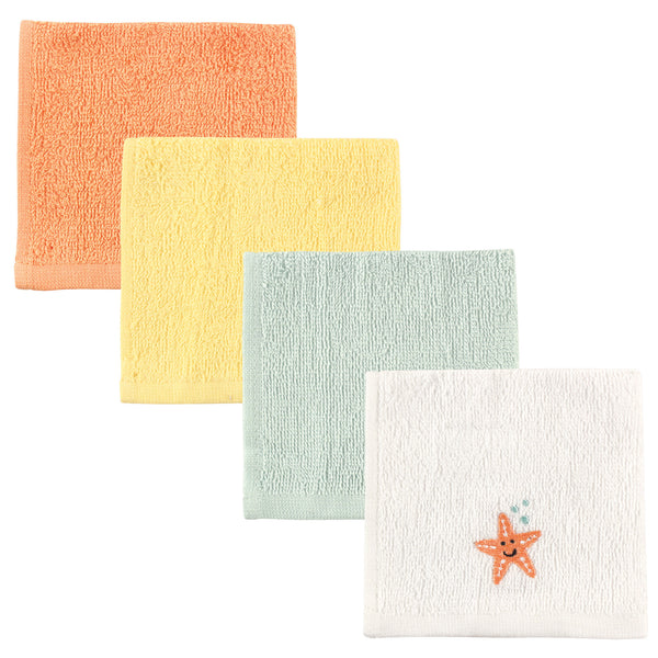 Luvable Friends Super Soft Cotton Washcloths, Starfish