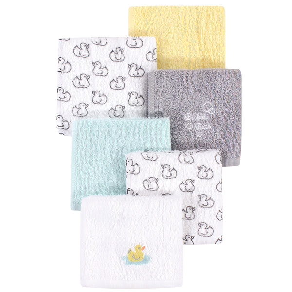Luvable Friends Super Soft Cotton Washcloths, Duck