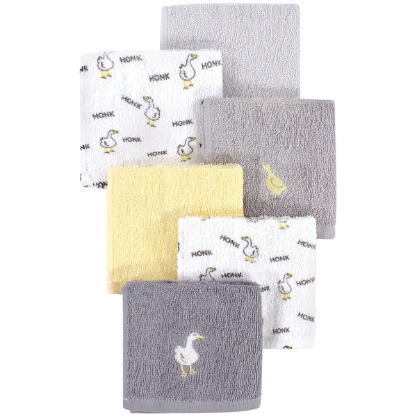 Luvable Friends Super Soft Cotton Washcloths, Goose