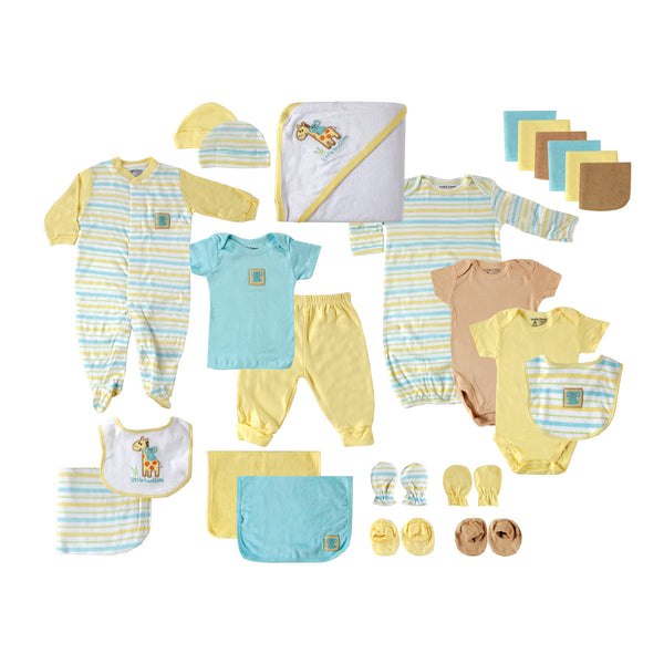 Luvable Friends Layette Gift Cube, Yellow Giraffe