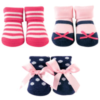 Luvable Friends Socks Giftset, Pink Navy