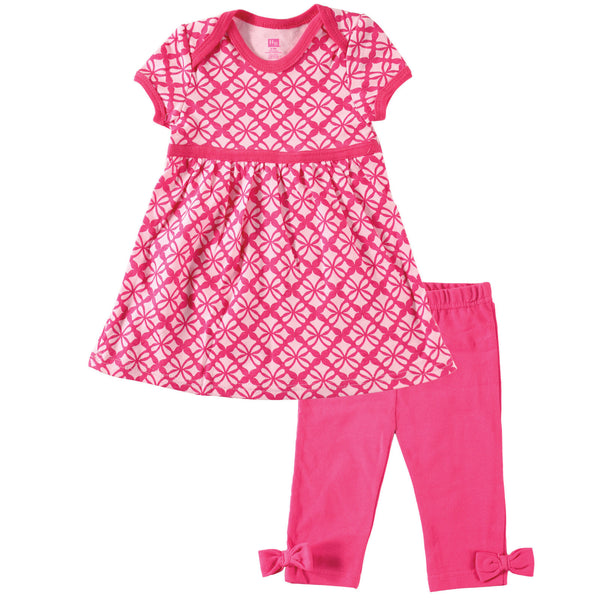Hudson Baby Dress and Cropped Leggings, Pink