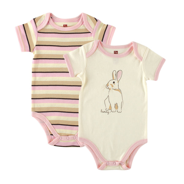 Touched by Nature Organic Cotton Bodysuits, Bunny 2-Pack