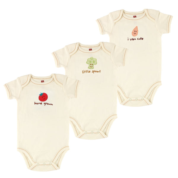 Touched by Nature Organic Cotton Bodysuits, Tomato