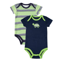 Yoga Sprout Cotton Bodysuits, Turtle