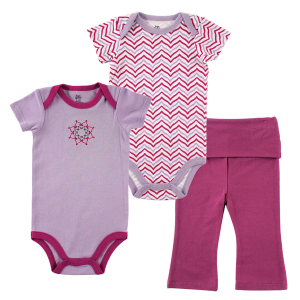 Yoga Sprout Cotton Layette Set, Lotus