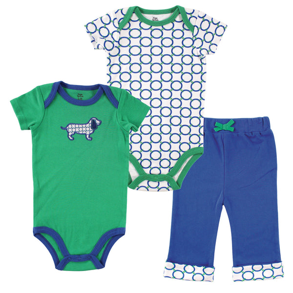 Yoga Sprout Cotton Layette Set, Dog