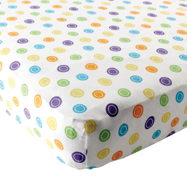Luvable Friends Fitted Playard Sheet, Yellow Geometric