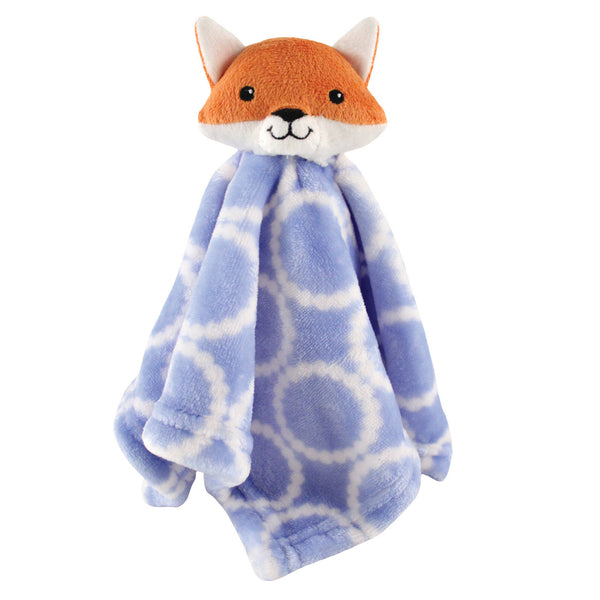 Hudson Baby Animal Face Security Blanket, Blue Fox