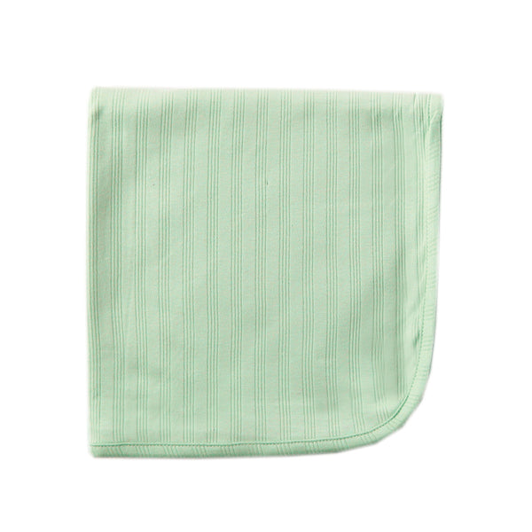 Touched by Nature Organic Cotton Swaddle, Receiving and Multi-purpose Blanket, Celery