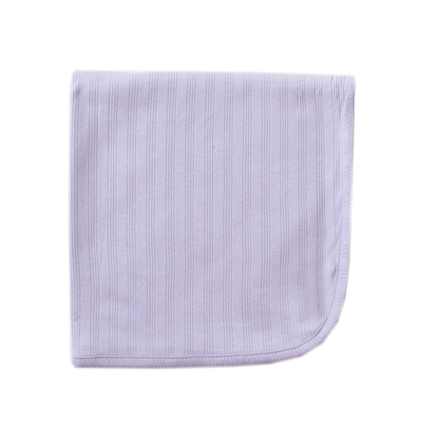 Touched by Nature Organic Cotton Swaddle, Receiving and Multi-purpose Blanket, Lavender