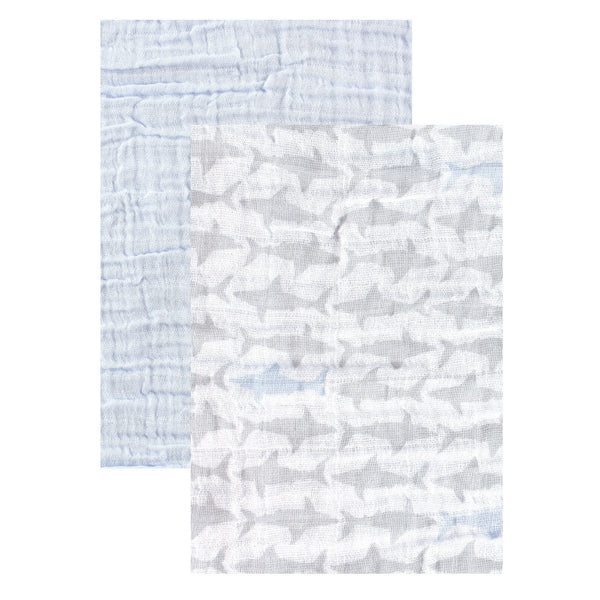 Yoga Sprout Cotton Muslin Swaddle Blankets, Shark