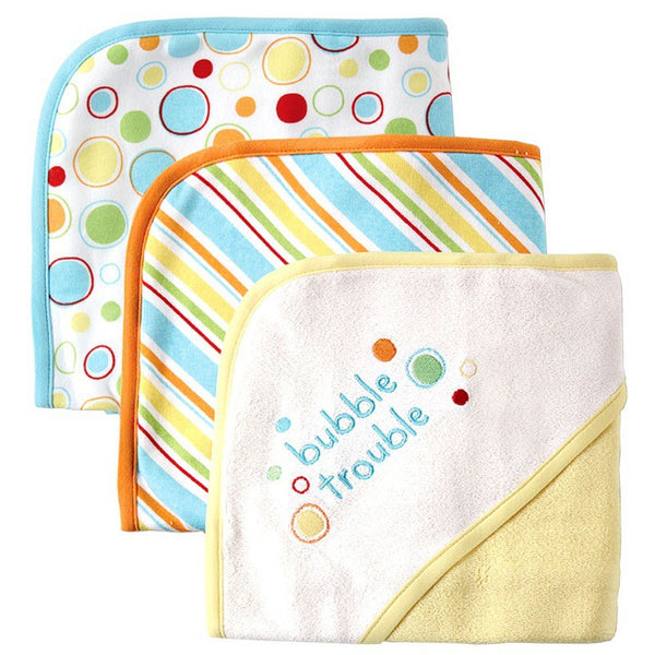Luvable Friends Cotton Terry Hooded Towels, Yellow