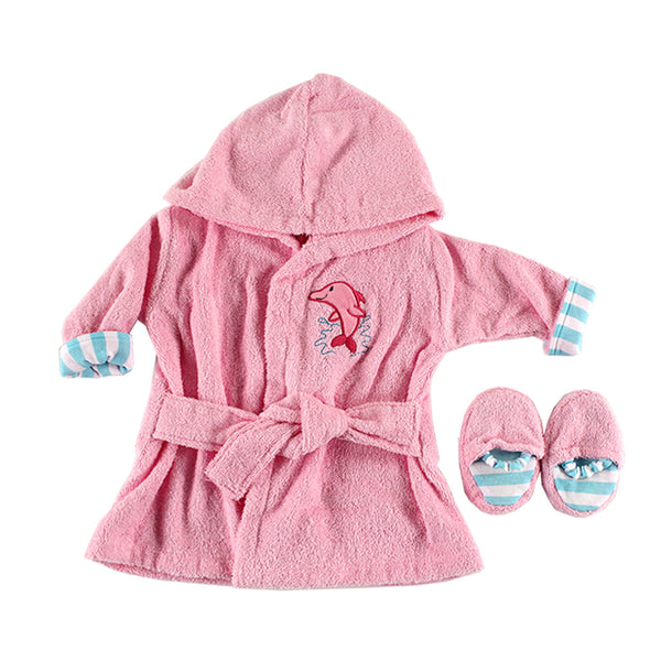 Luvable Friends Cotton Terry Bathrobe, Pink