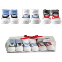 Luvable Friends Socks Giftset, Blue 3-Pack