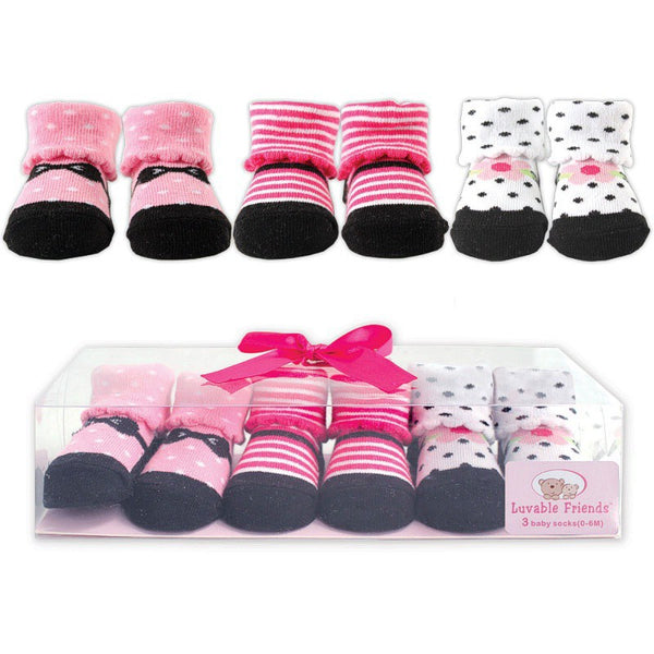 Luvable Friends Socks Giftset, Pink