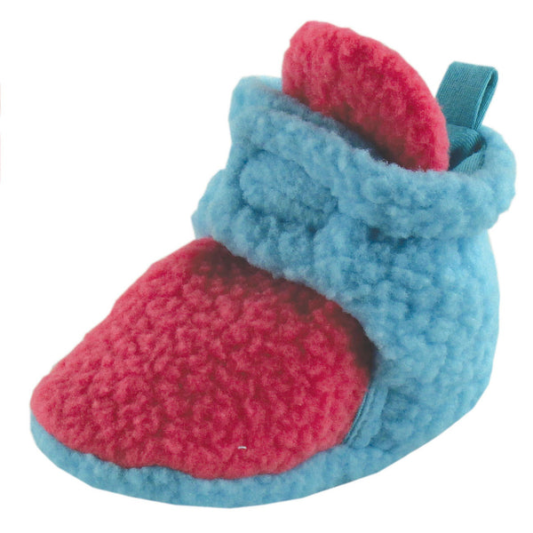 Luvable Friends Fleece Booties, Teal Pink