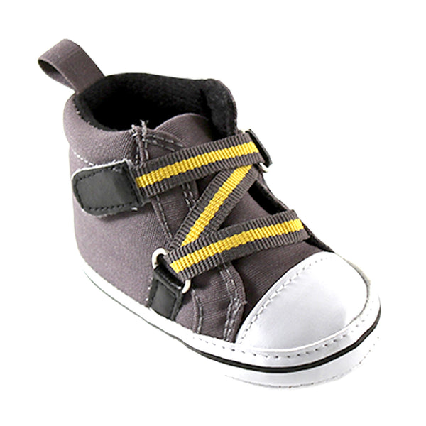 Luvable Friends Crib Shoes, Gray Hi-Top