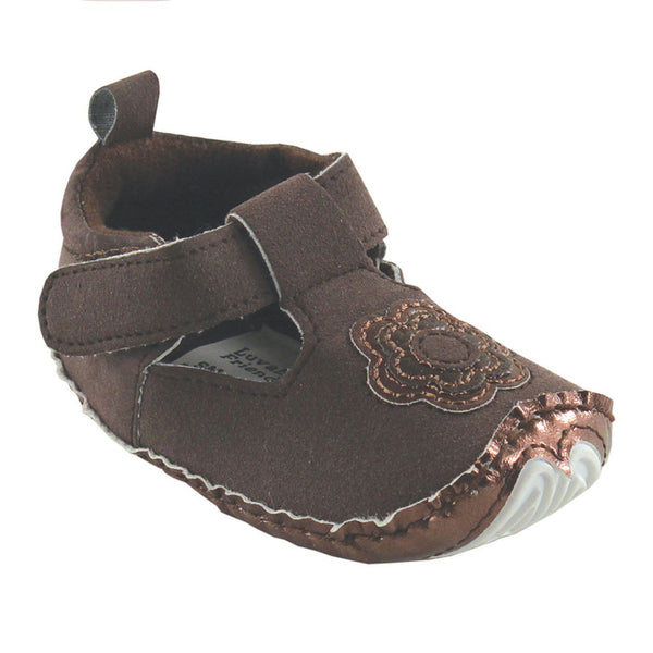 Luvable Friends Crib Shoes, Brown Mary