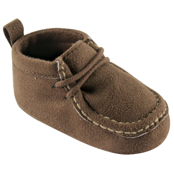 Luvable Friends Crib Shoes, Brown Wallabee