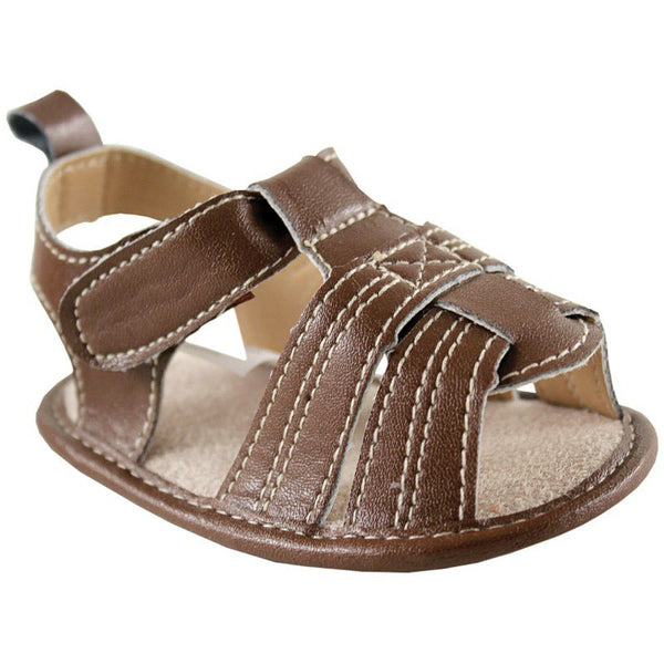 Luvable Friends Crib Shoes, Brown Casual