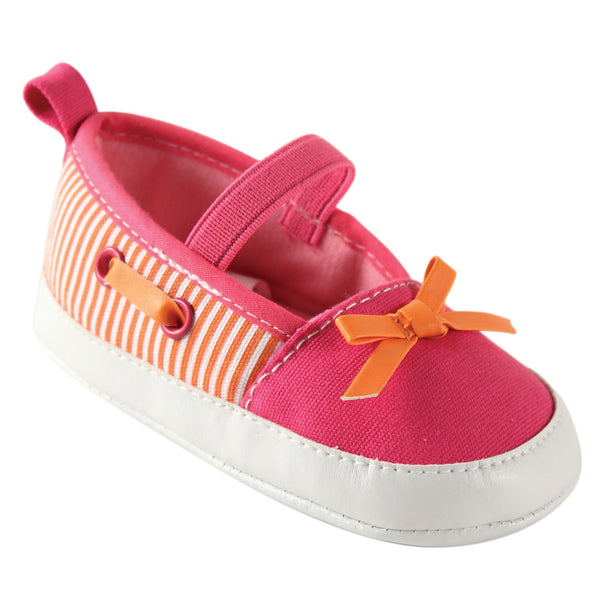 Luvable Friends Crib Shoes, Pink Orange