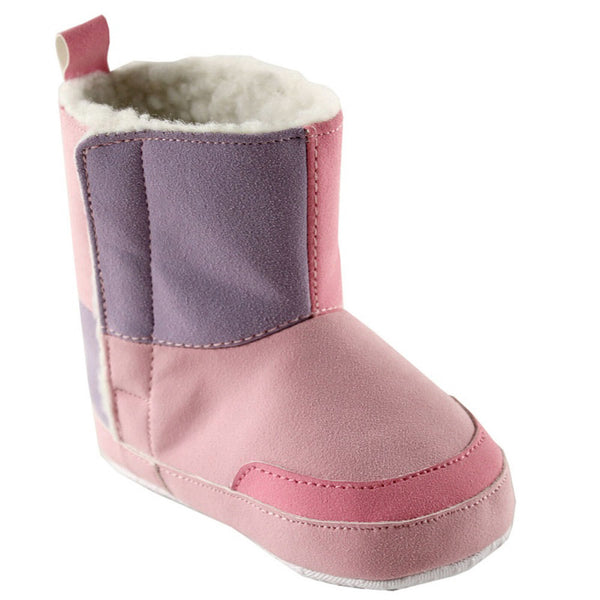Luvable Friends Crib Shoes, Pink Boots