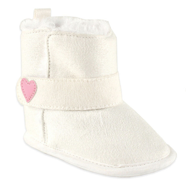 Luvable Friends Crib Shoes, White Boots