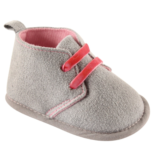 Luvable Friends Crib Shoes, Grey Desert