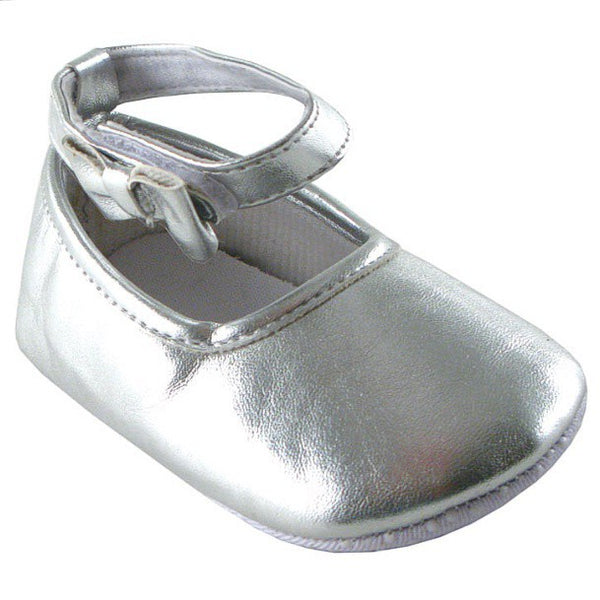 Luvable Friends Crib Shoes, Silver