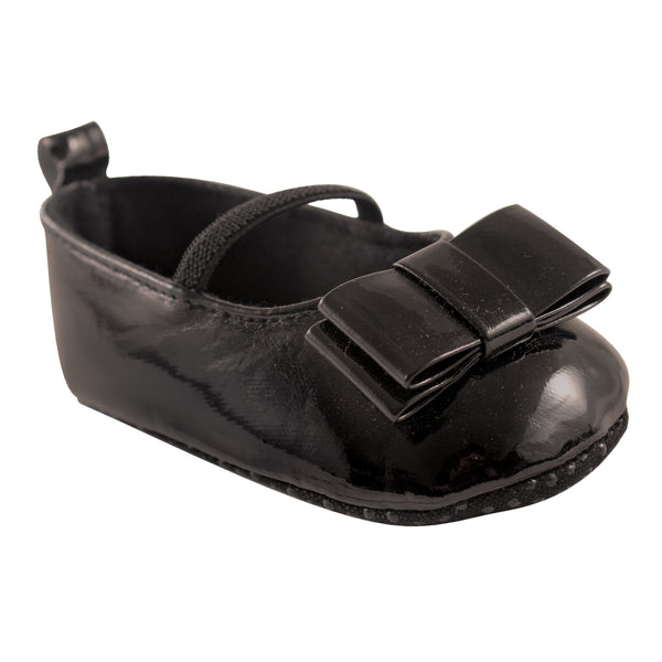 Luvable Friends Crib Shoes, Black Patent