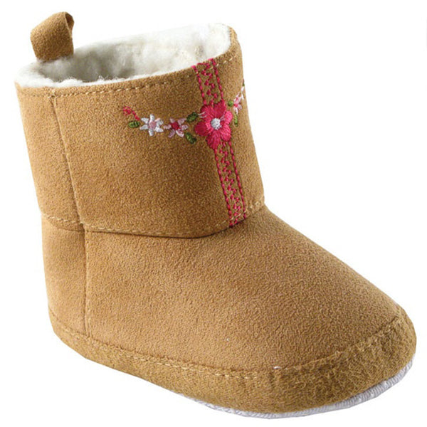 Luvable Friends Crib Shoes, Beige Boots